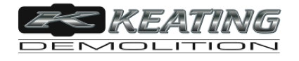 Logo, Keating Demolition, Demolition Company in Dallas, TX